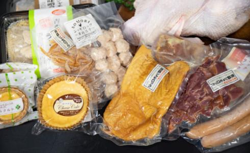 種類豊富な食肉加工品画像